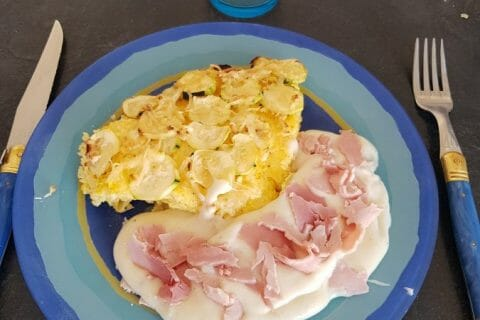 Polenta au pistou, tomates séchées et courgettes Thermomix par Moutonnette