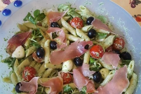 Salade de penne à l'italienne Thermomix par Cocodu66