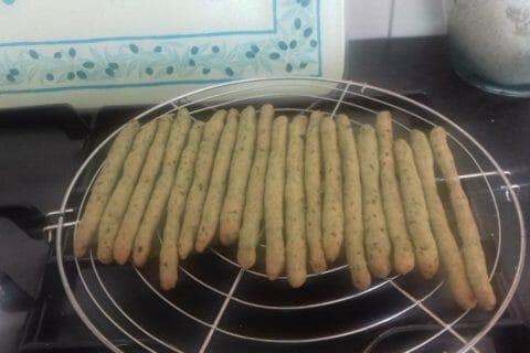 Gressins parmesan basilic Thermomix par Helma