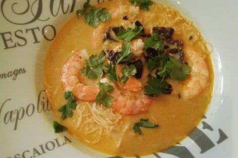 Soupe thaï crevettes et lait de coco Thermomix par Eudg