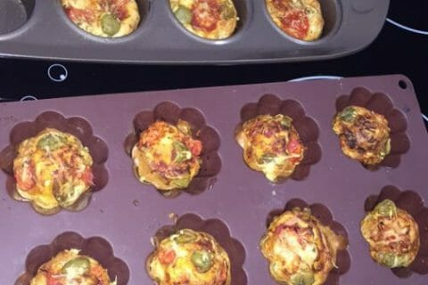 Muffins salés façon pizza Thermomix par Julie.T