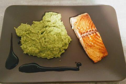 Saumon sur purée de brocolis Thermomix par Carol Cubana