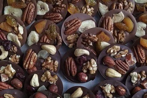 Mendiants au chocolat au Thermomix