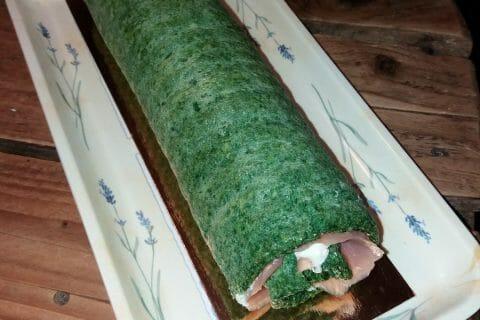 Roulé aux épinards, saumon et Boursin Thermomix par Tafany