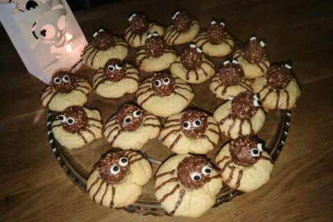 Spider cookies (cookies araignées) Thermomix par Kruzy