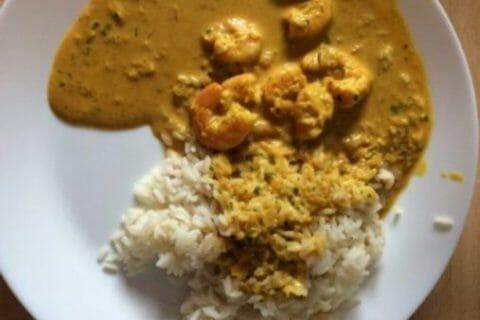 Curry de crevettes au lait de coco Thermomix par Babou