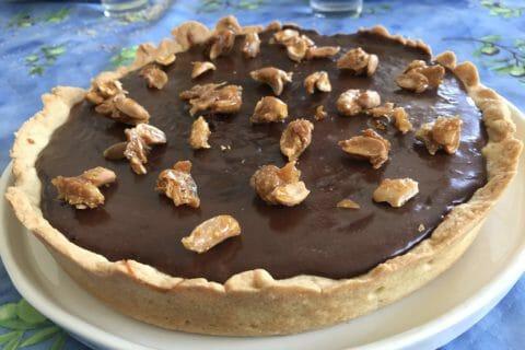 Tarte au chocolat et cacahuètes caramélisées au Thermomix
