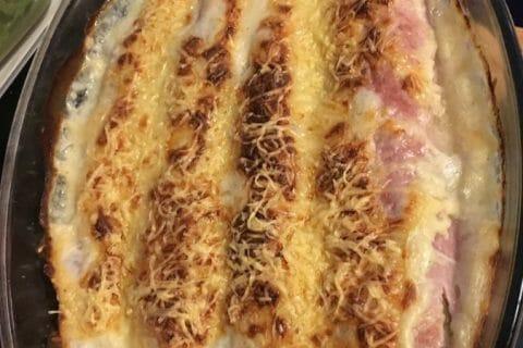 Gratin de poireau au jambon Thermomix par nanaceline26