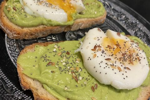 Tartine avocat et oeuf mollet au Thermomix