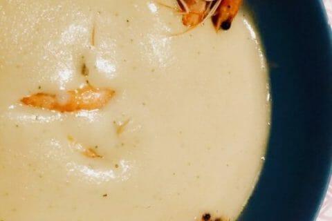 Soupe de concombre et crevettes marinées au citron Thermomix par No42