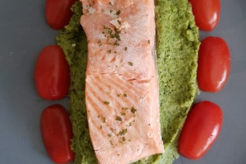 Saumon sur purée de brocolis Thermomix par Laura1213